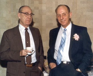 Joe Pfieffer, my dad's best friend for many years, and my dad at my wedding.