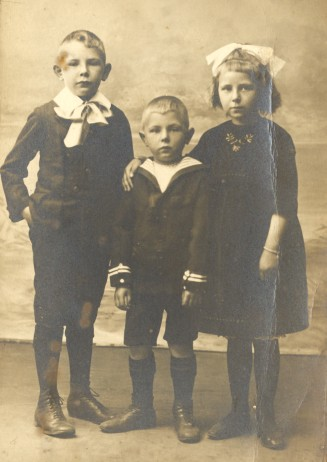 My father, his brother Jan, and his sister Stien. c1925