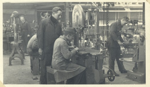 My dad as foreman in a machine shop, late 1930's.