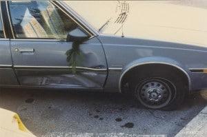 Kathy's car, passenger side