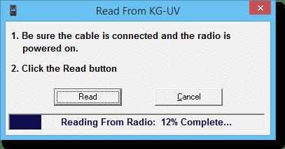 KG-UV Reading