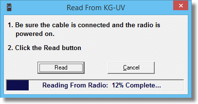 KG-UV Reading
