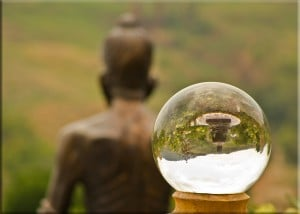 Buddha-Statue and Crystal ball